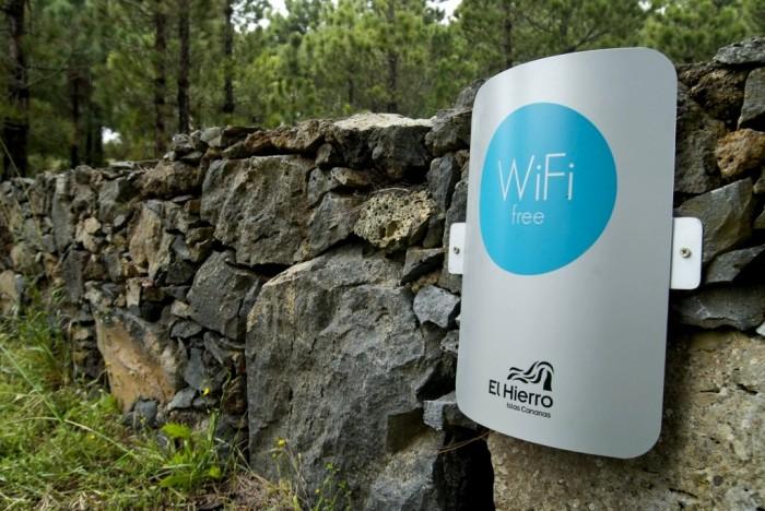 Ecco un punto della rete wi-fi gratuita di El Hierro