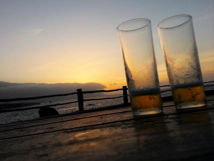 birre al tramonto a Punta Grande