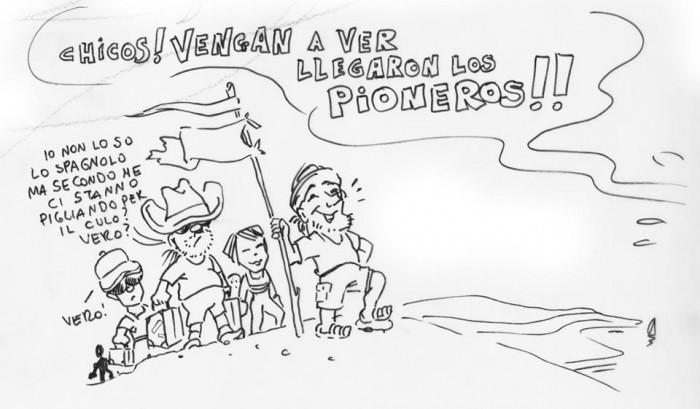 los pionieros (disegno di Toni Bullo)