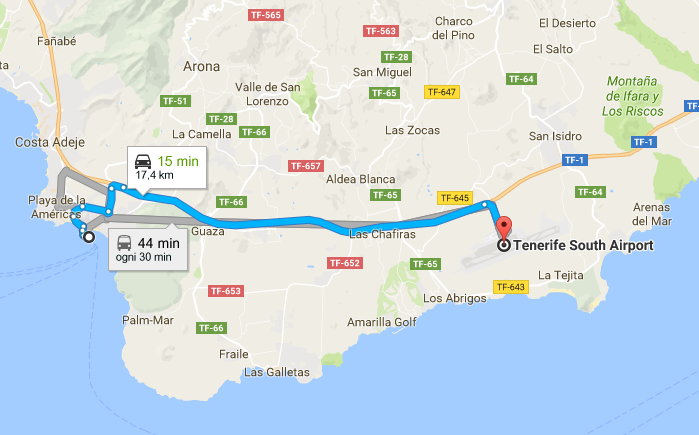 Tenerife South Airport - Puerto Los Cristianos